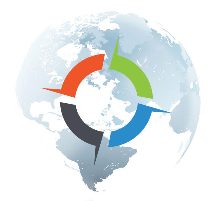 GPS Logo With Globe
